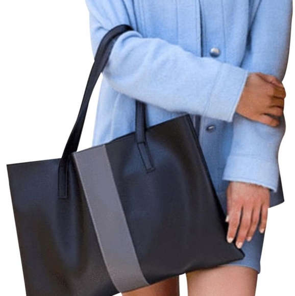 Vince Camuto Pebbled Vegan Leather Tote